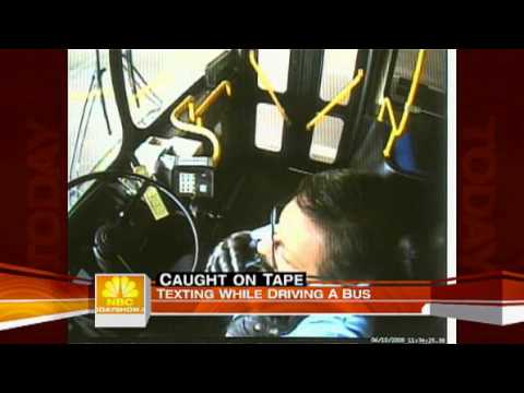 Texting While Driving Caught on Tape (Today Show)
