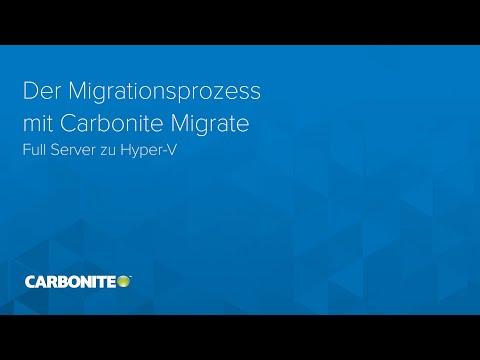 Der Migrationsprozess mit Carbonite Migrate: Full Server zu Hyper-V
