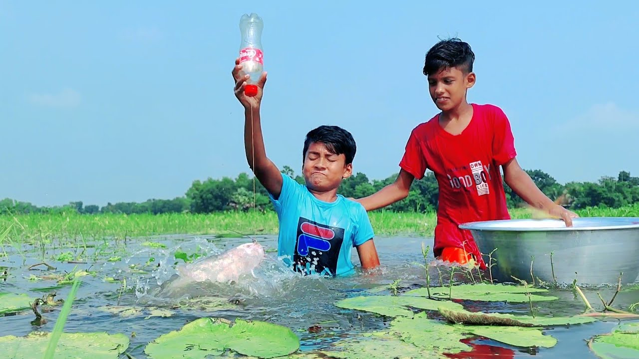 Best Unique Fish Trap | Village Hook Catching Fish By Plastic Bottle Trap | Hunting Fish Trap