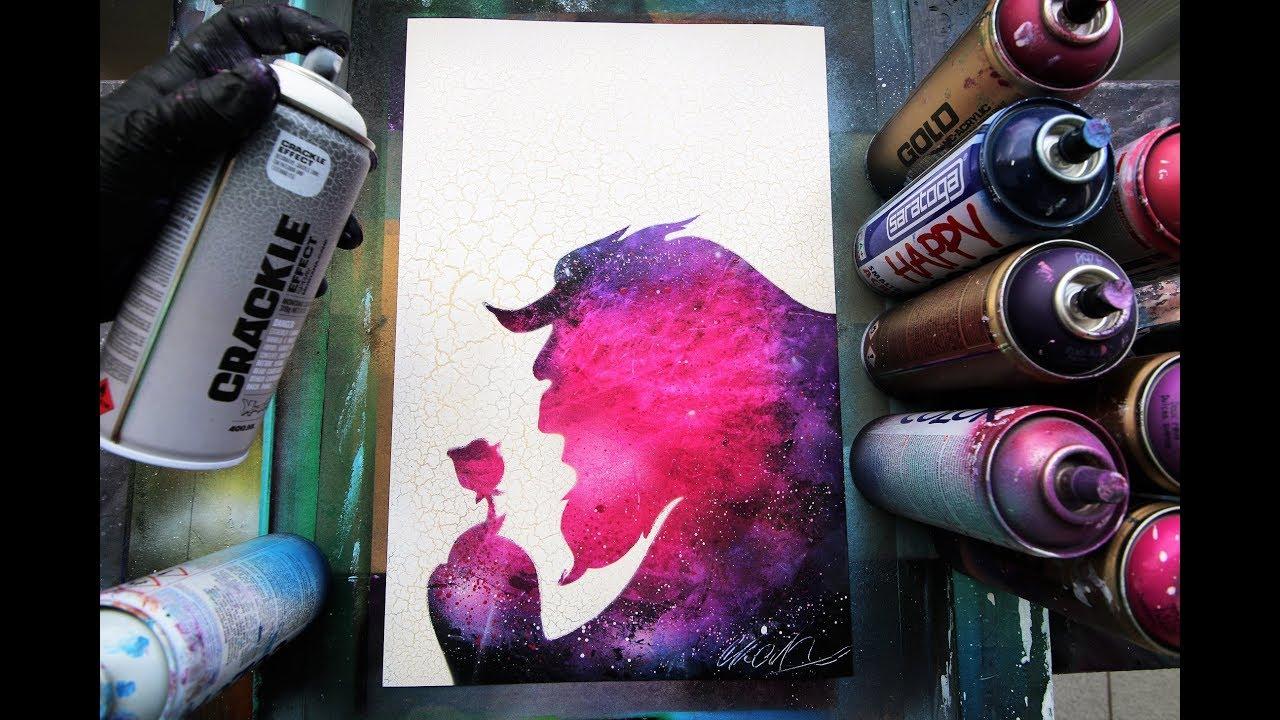 Beauty IN the Beast - SPRAY PAINT ART - by Skech - YouTube