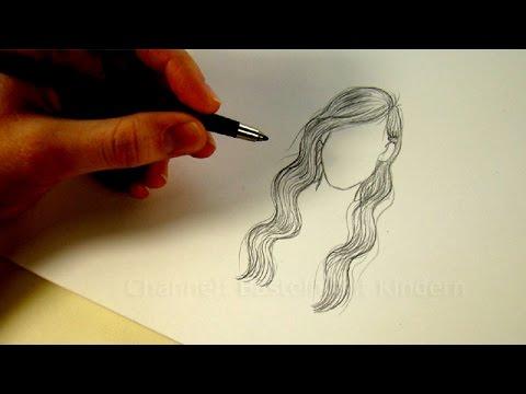 zeichnen lernen haare frisur zeichnen mit bleistift tutorial 2. Black Bedroom Furniture Sets. Home Design Ideas