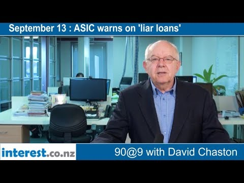 90 seconds @ 9am : ASIC warns on 'liar loans'