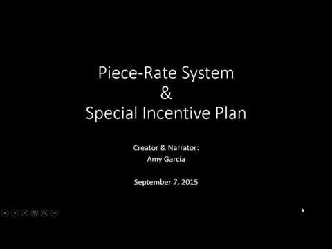 an analysis of piece rate system Incentives, motivation and workplace performance: research & best practices their findings required that a detailed statistical analysis of existing literature be conducted the vast majority of the reported incentive systems were quota-based about piece-rate.