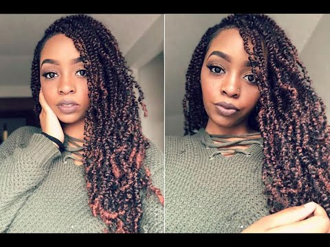 How to install the spring twist hair - YouTube