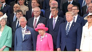 Britain hosts a major international event in Portsmouth to mark the 75th anniversary of D-Day with President Trump in attendance.
