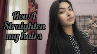 How I straighten mỳ hair | tutorial |purva rajpoot ❤️