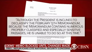 Democratic memo blocked until changes made