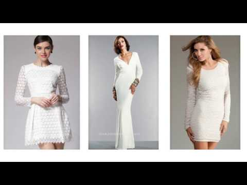 Top 100 White dress with sleeves, white dresses for women