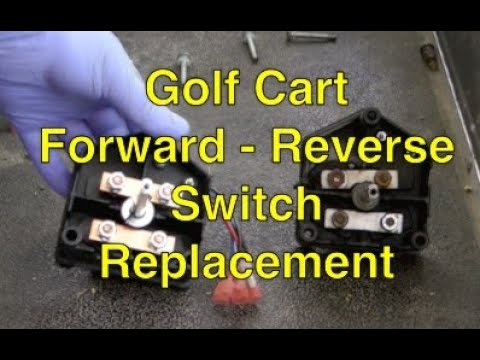 1985 ez go wiring diagram golf cart forward reverse switch youtube  golf cart forward reverse switch youtube