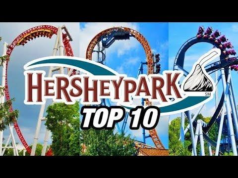 Top 10 Coasters At Hersheypark!