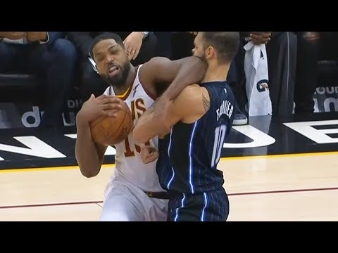 Download Youtube: Tristan Thompson ELBOWS EVAN FOURNIER IN THE FACE AND ALMOST KNOCKS HIM OUT! Cavaliers vs Magic