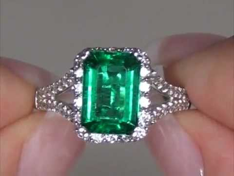 Intense Color High End Zambian Emerald & Diamond Cocktail ...