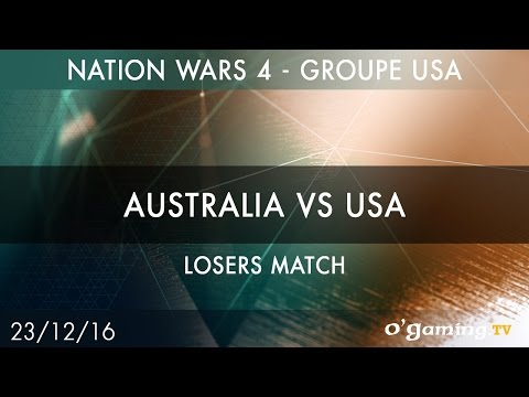 Australia vs USA - Nation Wars 4 Groupe USA - Losers match - Starcraft II - FR