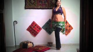 Tutorial 2 Paso punta y egipcio básico. Danza oriental. Arabelly Anjum