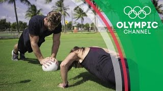 Buff Dude Tackles Melissa Ortiz's Football Workout | Hitting the Wall