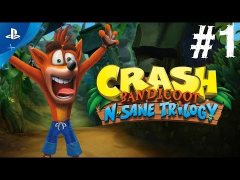 Crash Bandicoot N-Sane Trilogy Gameplay Walkthrough Part 1 Remastered Let's Play 2016 Secret Bonus