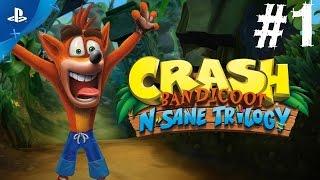 Crash Bandicoot N-Sane Trilogy Gameplay Walkthrough Part 1 Remastered Let