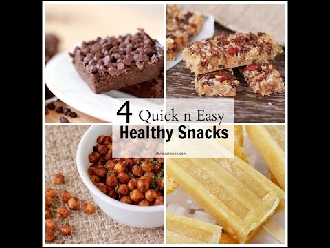 4 Delicious Healthy Snacks! Quick & Easy Recipes!