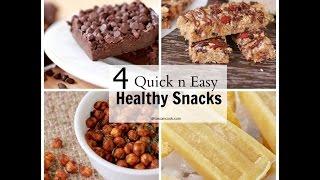 4 Delicious Healthy Snacks! Quick & Easy Recipes!