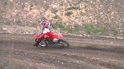 Motocross European Champion Emil Weckman training on Honda CRF150R raw footage