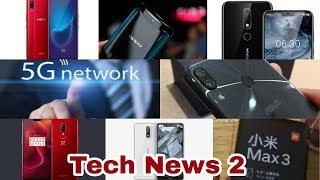 Tech Talks Nokia X6  Oppo Find X launch   Asus Zenfone 5Z   MI Max 3  Jio Phone2 By Mr Technical
