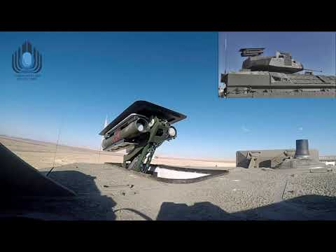 Launch of spike missile out of Namer/Eitan unmanned turret שיגור טיל גיל מצריח לא מאויש של נמראיתן