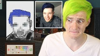 DRAWING MY BROTHER DANTDM | Passpartout