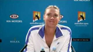 Maria Sharapova - Australian Open - Conference