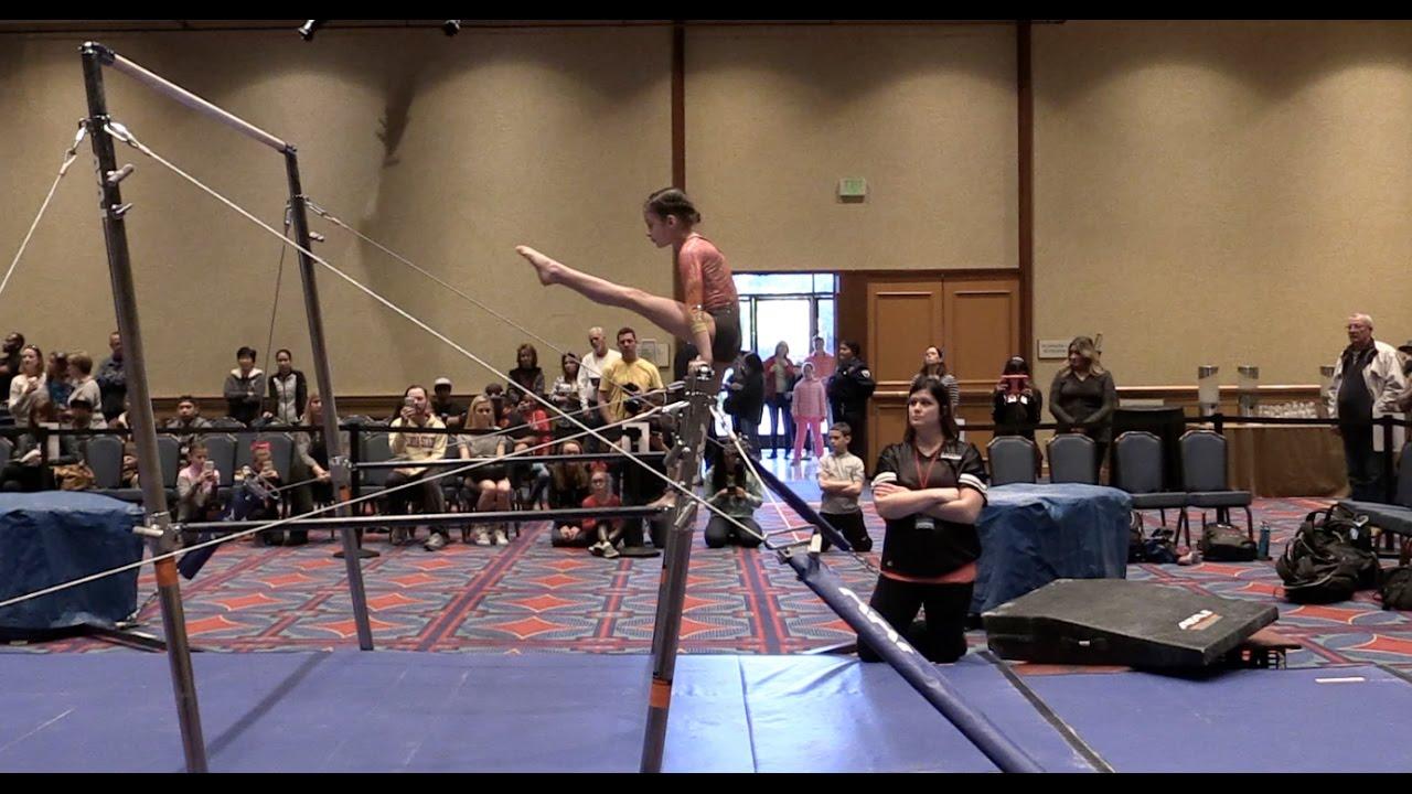 hayleys first gymnastics meet bratayley youtube