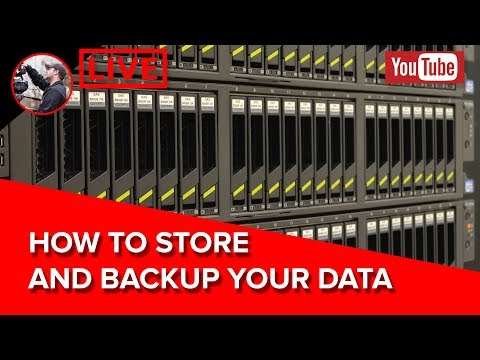 🔴 Storing and Backing Up Your Data - How I Protect My Footage LIVE