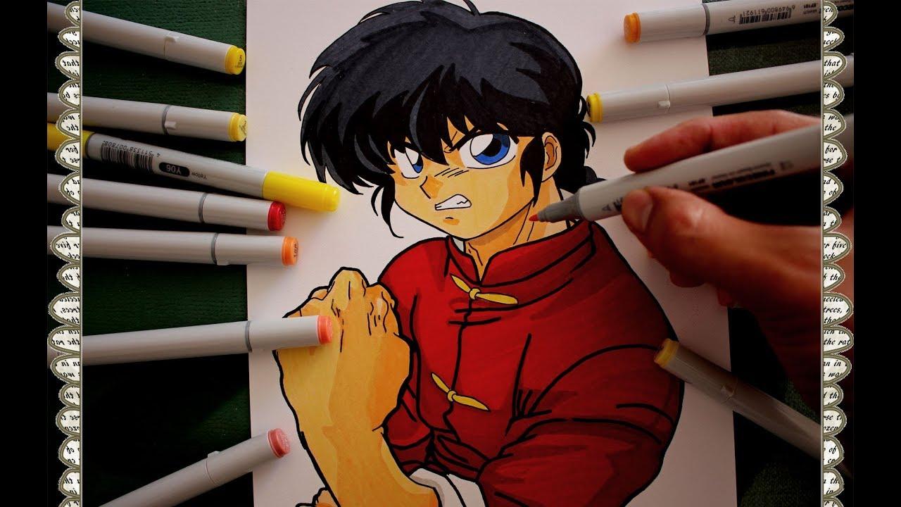 c u00f3mo dibujar a ranma saotome chico how to draw ranma saotome boy speed drawing