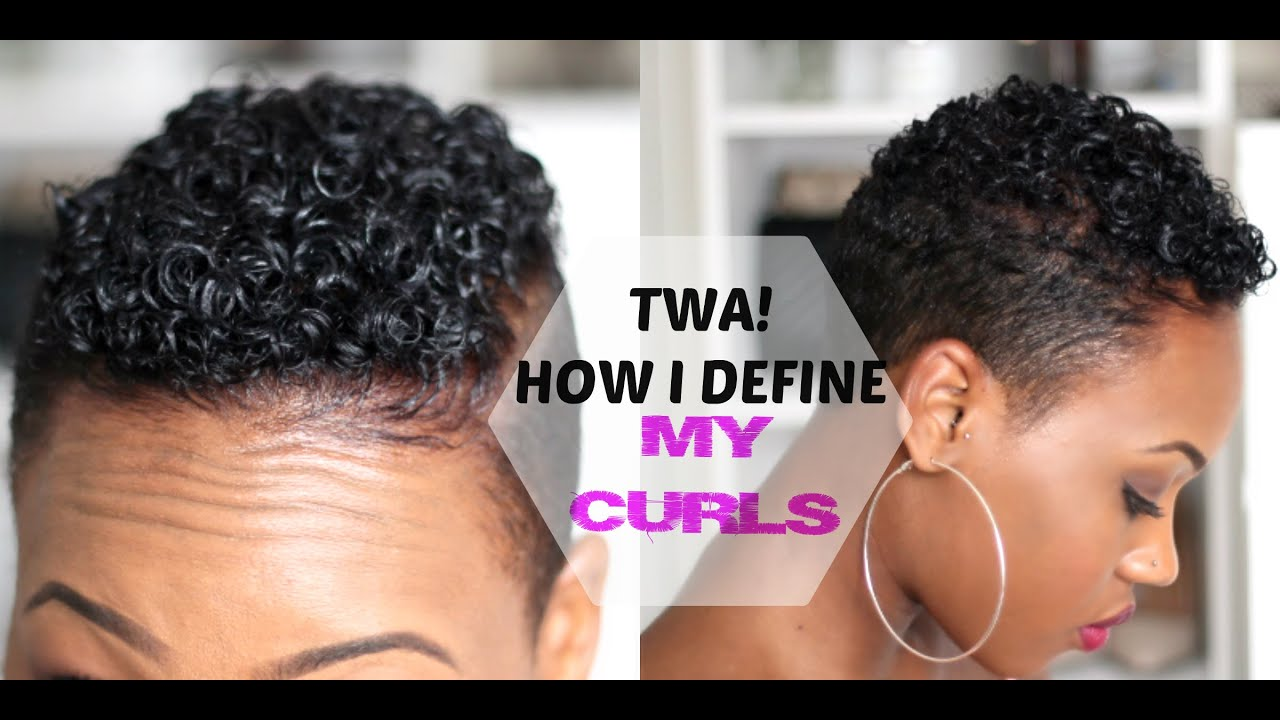 How to Define Your CURLS Tapered TWA Short Natural Hair 2015 QueenTeshna