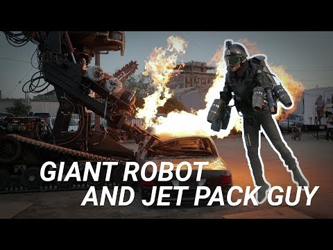 Giant Robot and Jet Pack Guy