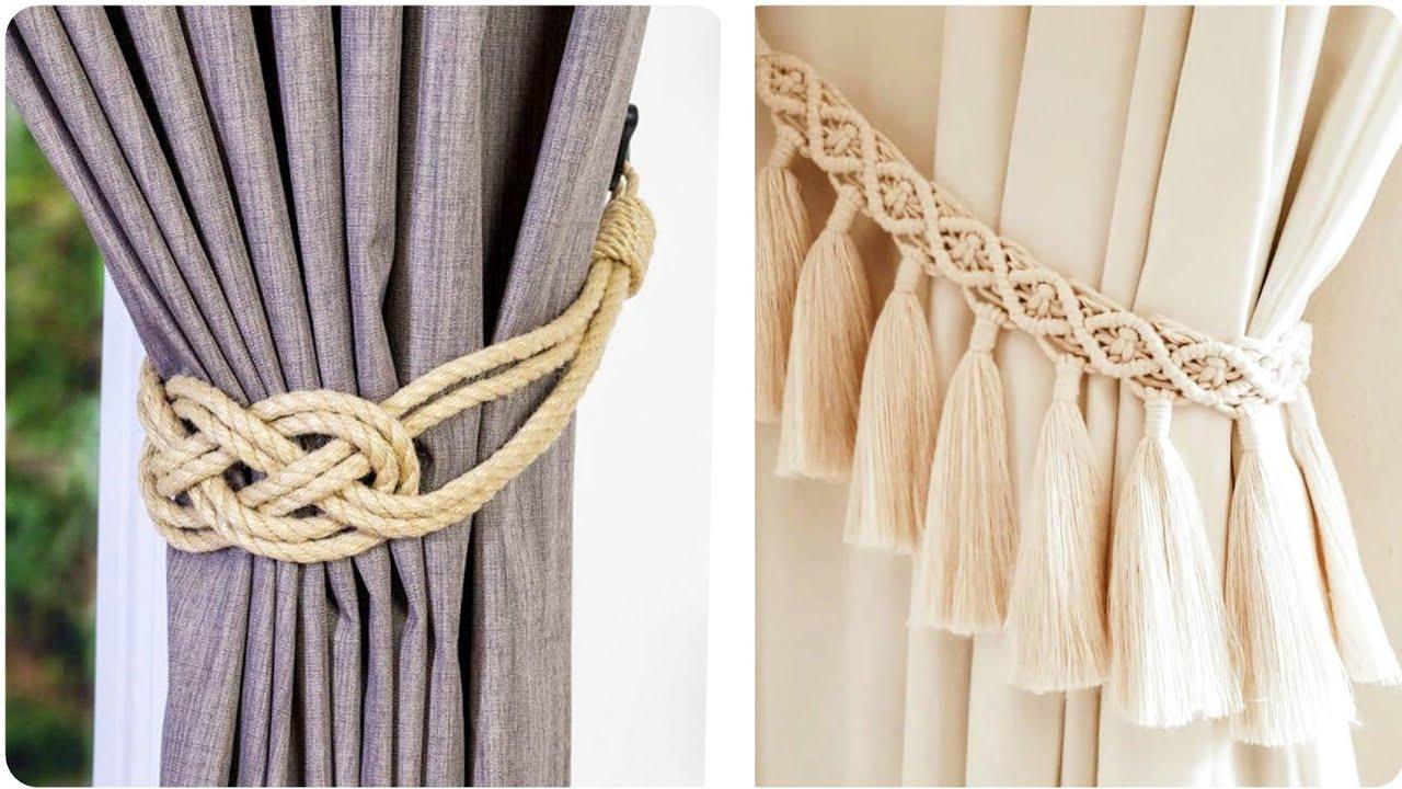 top class diy macrama macrame tie backs design best curtains tie back ideas by now amazing omg