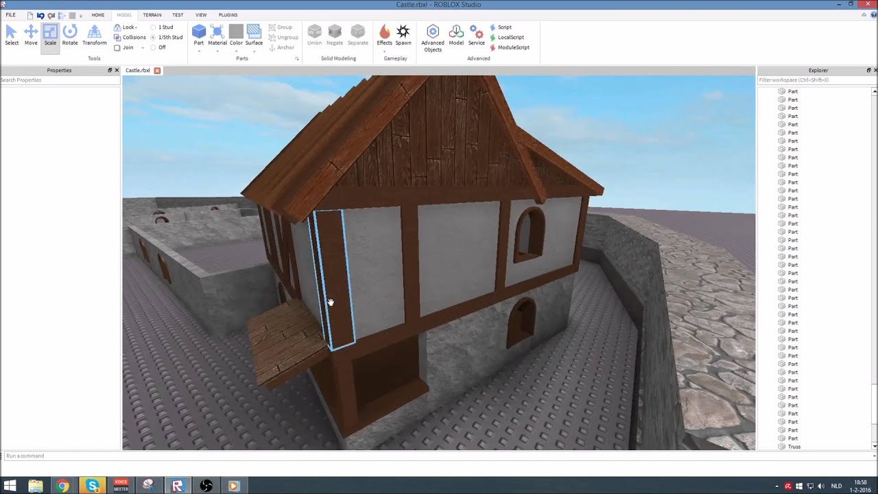 ROBLOX Speed build castle wall houses
