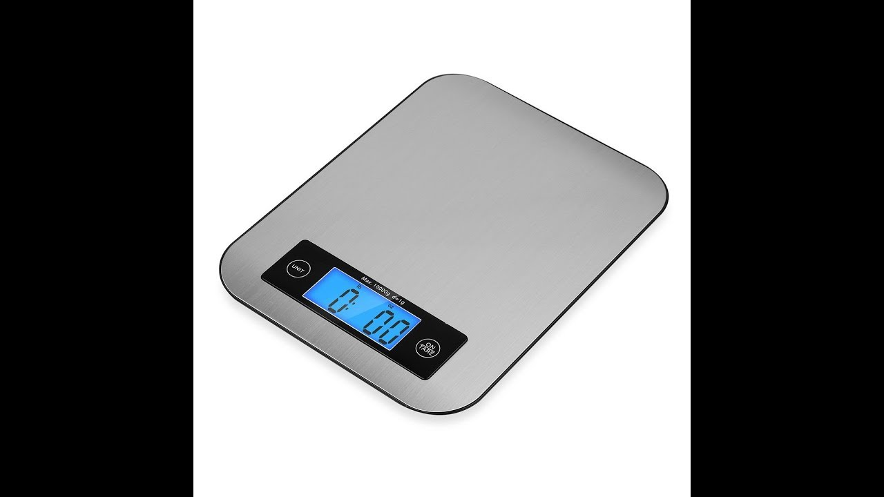 TOBOX Stainless Steel Multifunction Digital Kitchen Scale with LCD ...