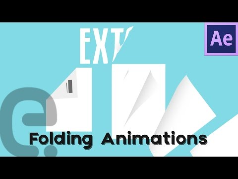 Folding Animation Techniques (Text & Paper) | Motion Graphics After Effects Tutorial