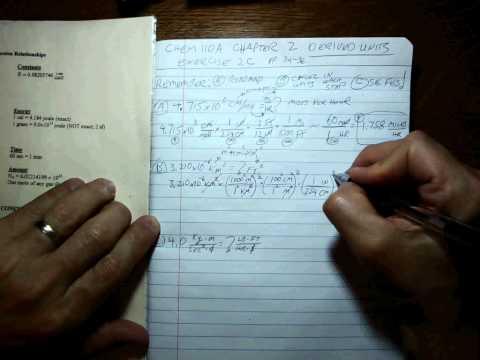 Chem 110 CH 2 Derived unit conversions