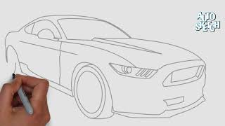 How to draw a Ford Mustang gt
