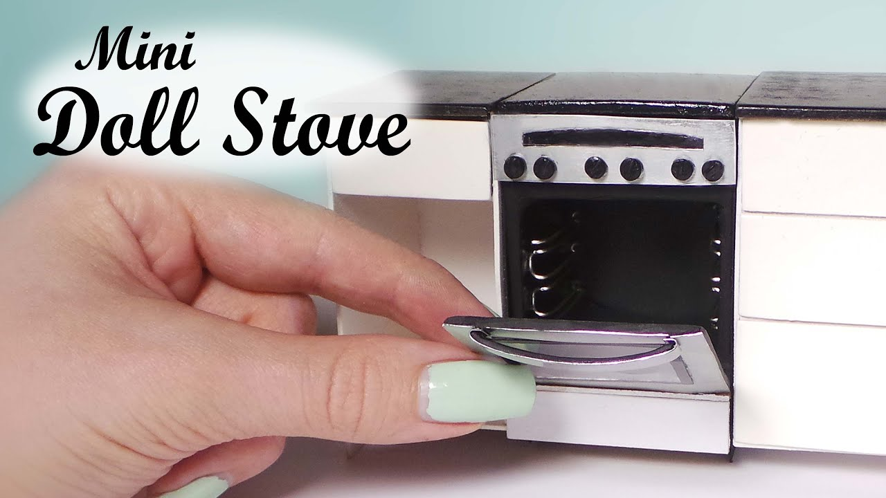 Miniature Oven Stove Tutorial Dollhouse Stove Youtube