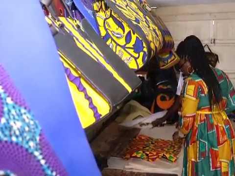 Ballerinas made from African print – Joy Business Van on Joy News (18-8-17))