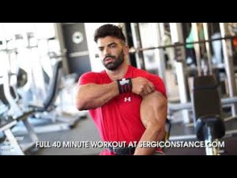 Sergi Constance  How workout chest & triceps 2017  NEW