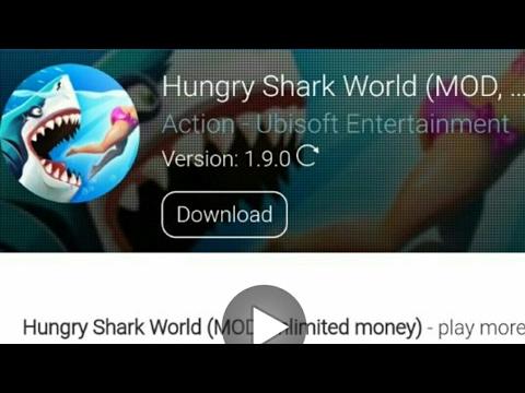 Hungry Shark World Mod Apk Unlimited Money Youtube