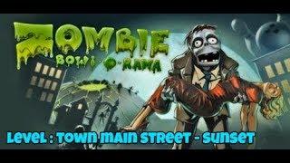 ZOMBIE BOWL-O-RAMA PC GAMEPLAY   LEVEL : TOWN MAIN STREET - SUNSET   MK Gamers