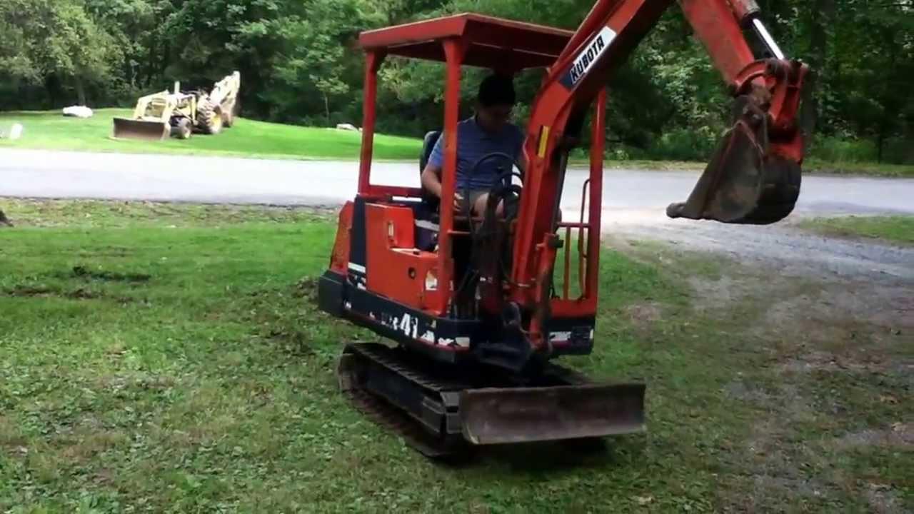 1988 kubota kh 41 mini excavator youtube