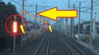交直流切替えのデッドセクションを通過する常磐線上りE531系の藤代~取手間の前面展望 thumbnail