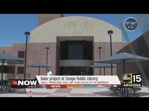 Solar project at Tempe Public Library - YouTube
