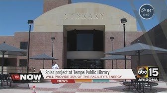 Solar project at Tempe Public Library