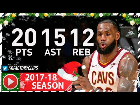 1057f9610f4 LeBron James Triple-Double Full Highlights vs Wizards (2017.12.17) - 20