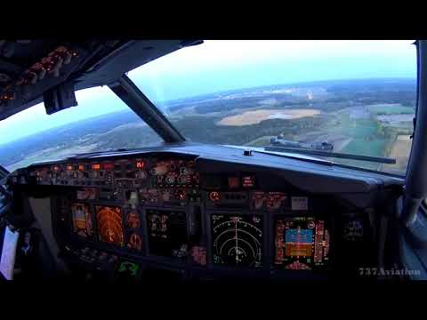 Boeing 737-800, Early morning landing in Arlanda Airport ESSA/ARL, 737Aviation